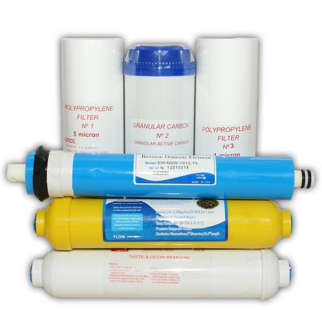 Set consumabile osmoza cu 6 etape de filtrare (contine membrana)