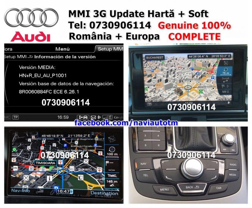 Harti 2018 AUDI MMI 3G HDD + Basic DVD SD Romania A4/A5/A6/A7/A8/Q5/Q7