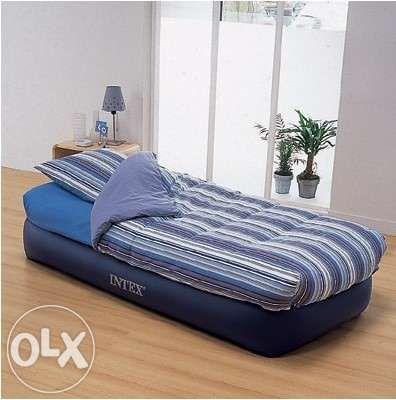 3 ДНИ ПРОМОЦИЯ: Ново единично надуваемо легло Интекс с вгр.ел.помпа