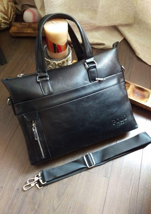 Разпродажба -50% POLO Бизнес чанта Унисекс естествена кожа
