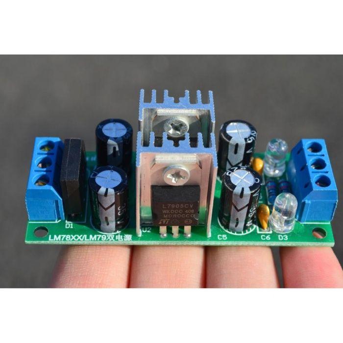 Regulator de tensiune duala 5V LM7805+LM7905