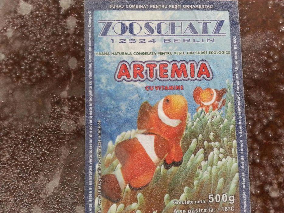 Artemia congelata pești de acvariu