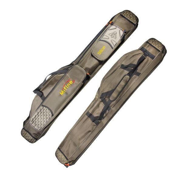 Чехол -люкс двойной для удилищ и спиннингов с катушкой /135см
