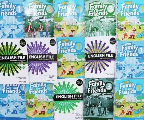 New English File,New Round Up,Fly High,Family and Friends,New Headway