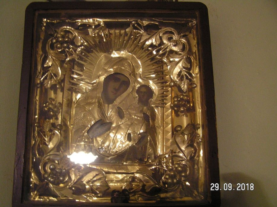icoana veche in caseta lemn