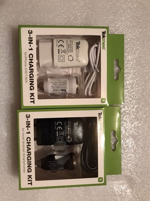 Kit GSM 3in1; Incarcator Auto si priza + cablu date Iphone sau android