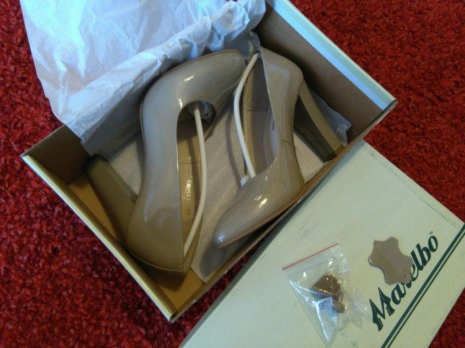 Pantofi Marelbo lac noi, piele naturala