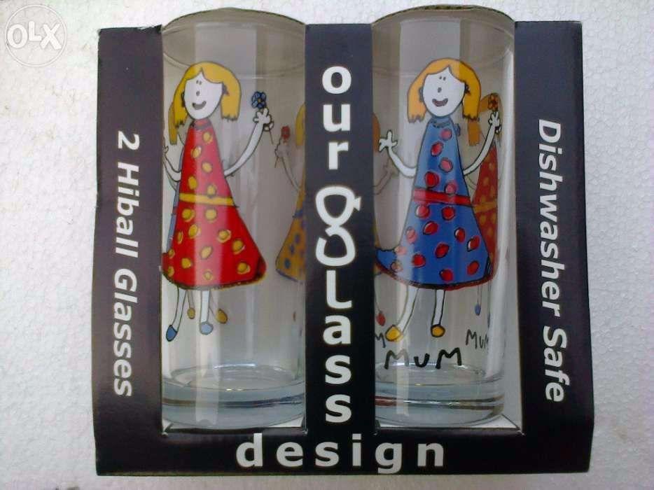 Set 2 pahare sticla made in USA rezistente la masina de spalat vase