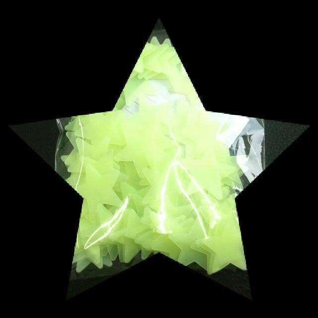 50 Estrelas Fluorescentes (brilham no escuro) - decorativas Malhangalene - imagem 4
