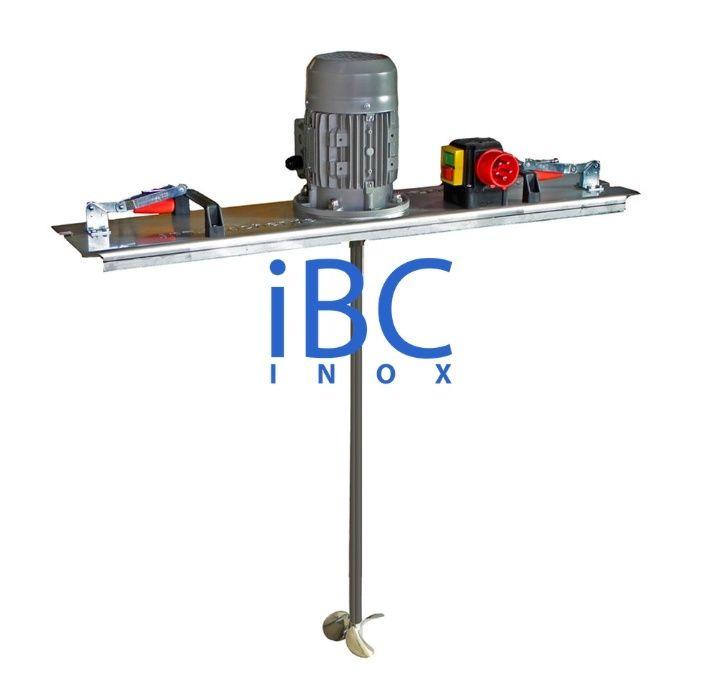 Agitator (mixer) portabil din inox, pentru IBC 1000 l