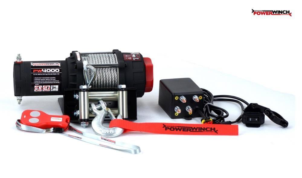 Troliu pentru ATV si UTV PW 4000 lb (1814kg) PowerWinch-NOU