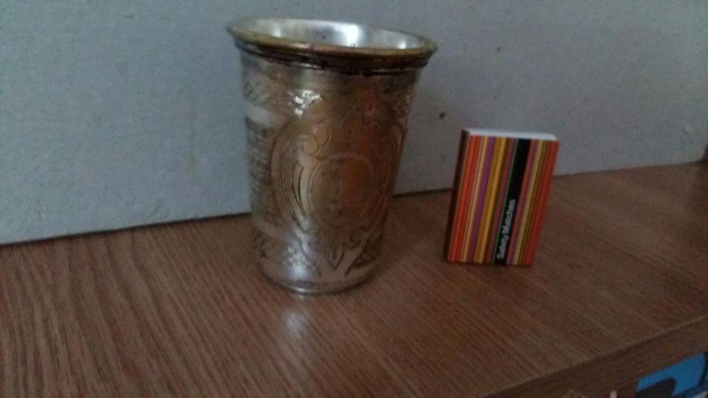 Pahar foarte vechi alama argintata
