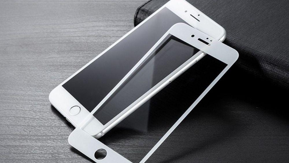 Folii pentru IPHONE, 3D ALB duritate 10H