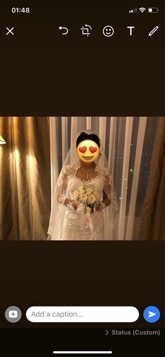 Шикарное Испанское свадебное платье рыбка