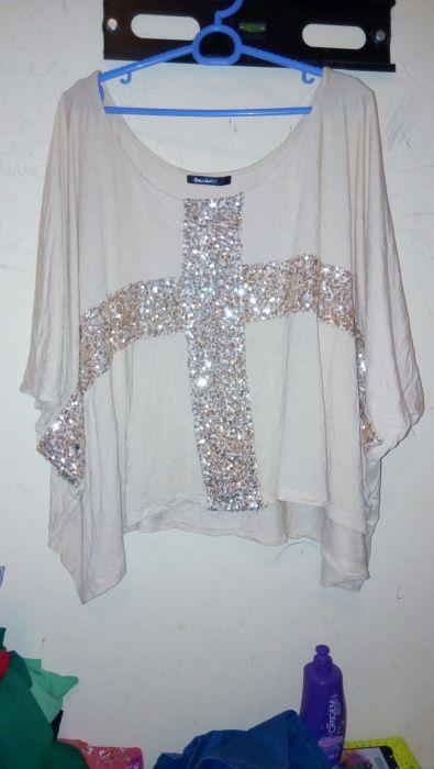 Blusa Babâda cor creme tamanho XL