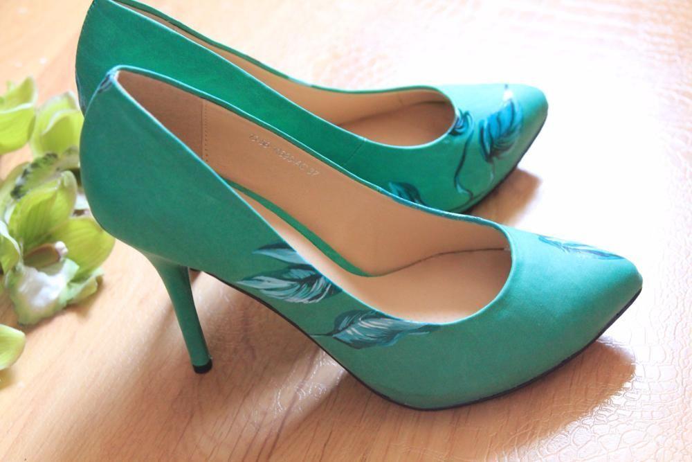 Туфли с росписью ручной работы. Распродажа.