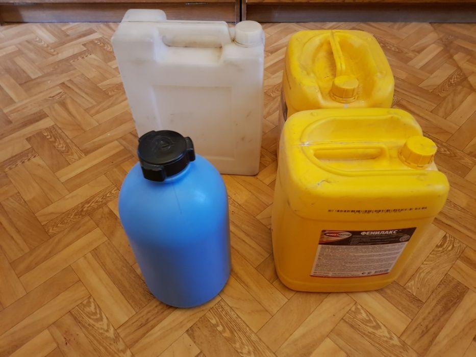 Прочные пластиковые канистры 10- 15 литров с крышками