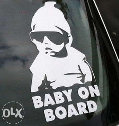 """Стикер за кола """" Бебе в колата """" Baby on Board """" стикери лепенка"""