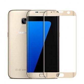 Folie de sticla 3D aurie compatibila cu Samsung Galaxy S7 Edge (GOLD)