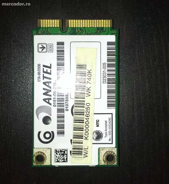 Placa WLAN Toshiba Satellite A200