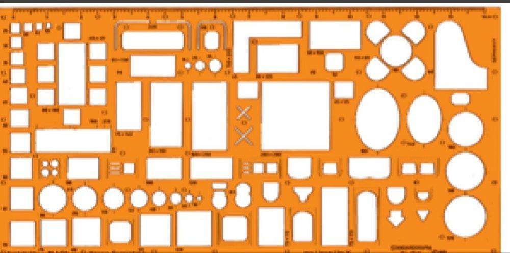 Шаблон архитектурен Ротринг/Стандартграф М 1:,50,100,20,200