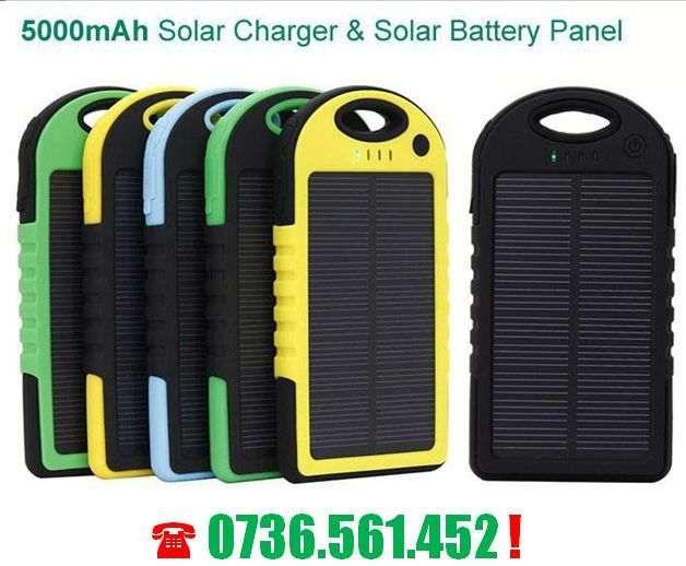 Baterie externa 5000 mAh - cu incarcare solara