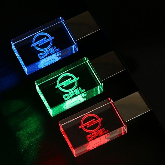 Светеща флашка с лого на различните марки автомобили