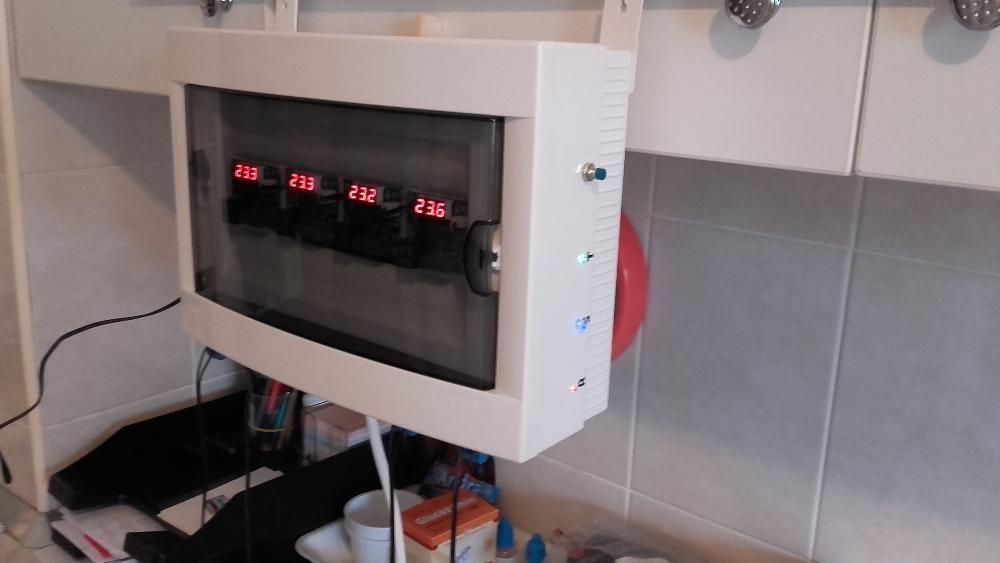 Avertizor sonor si supraveghere temperatura centrala pe lemne