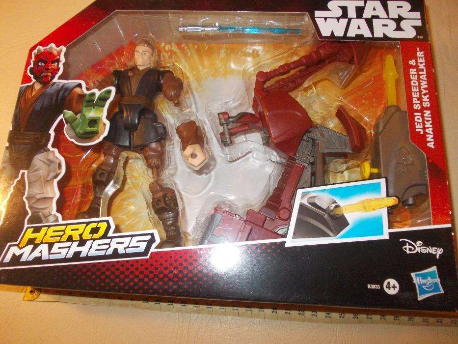 Figurina Hero mashers si vehicul Star Wars Anakin Skywalker - starwar