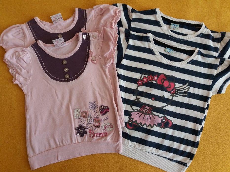 Лот летни блузки размер 98-104, 4 бр. за 11 лв. + 2 блузки подарък