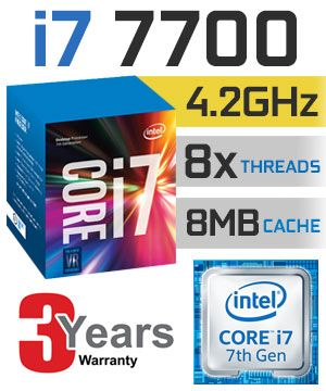 Cpu Core i7 7700 3.6ghz up to 4.2ghz