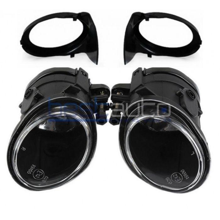 Тунинг за М броня халогени опушени/черни за БМВ Е46 / BMW E46