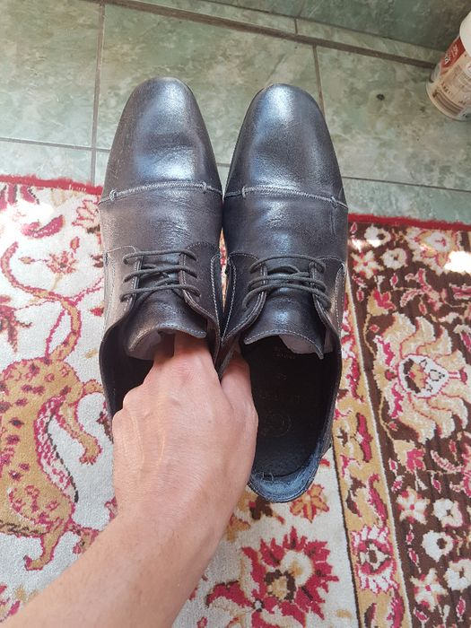 Pantofi piele gri 43