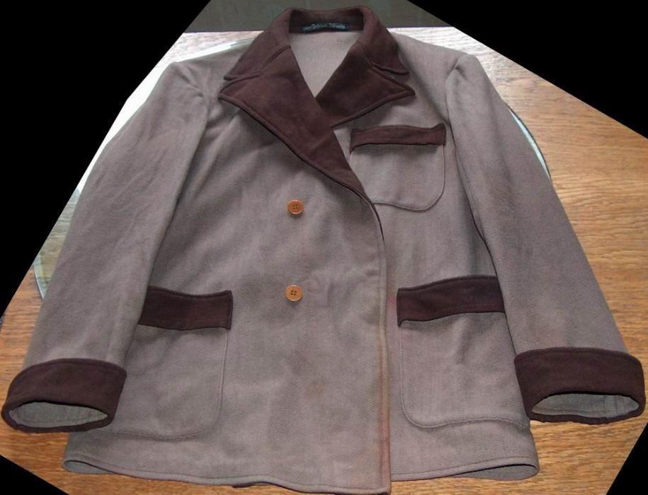 """haină din lână, vintage """"Aux Galleries Lafayette"""""""