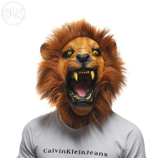 Masca latex Leu furios realista Halloween petrecere zoo animal +CADOU!