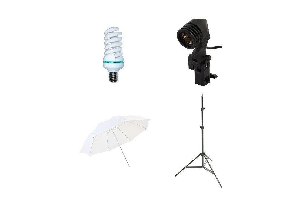 Kit lumina foto video, videochat cu umbrela de difuzie