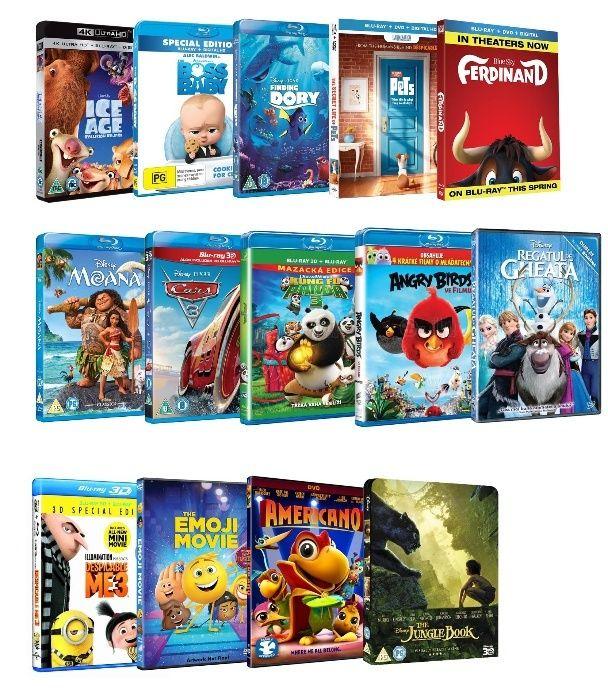 Colectie DVD & BluRay cu Desene / Animatie / Filme Dublate Romana