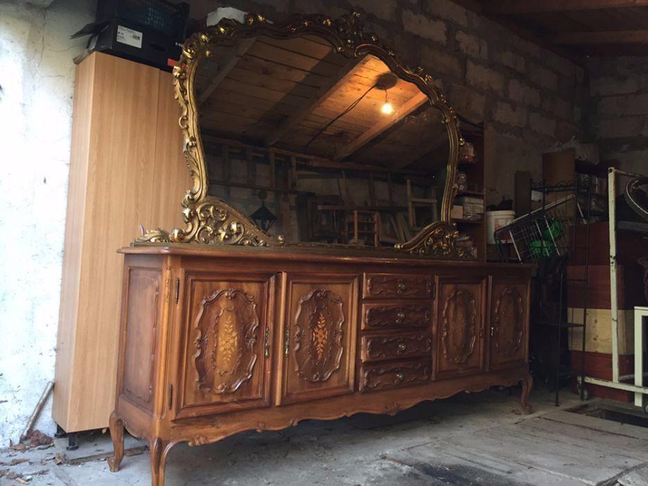 Mobilier vechi lemn masiv, baroc. Pretabil salon coafiura!