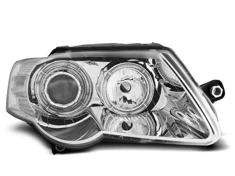 Faruri noi VW Passat B6 3C crom angel eyes