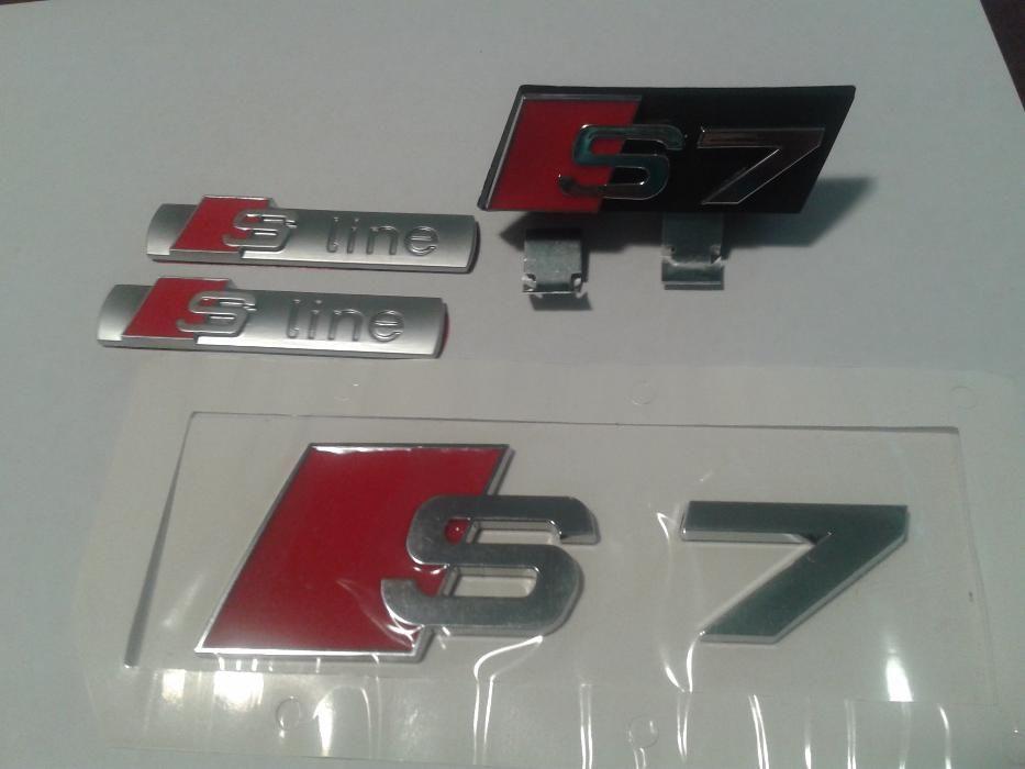 Set Embleme AUDI S7 s-line a7