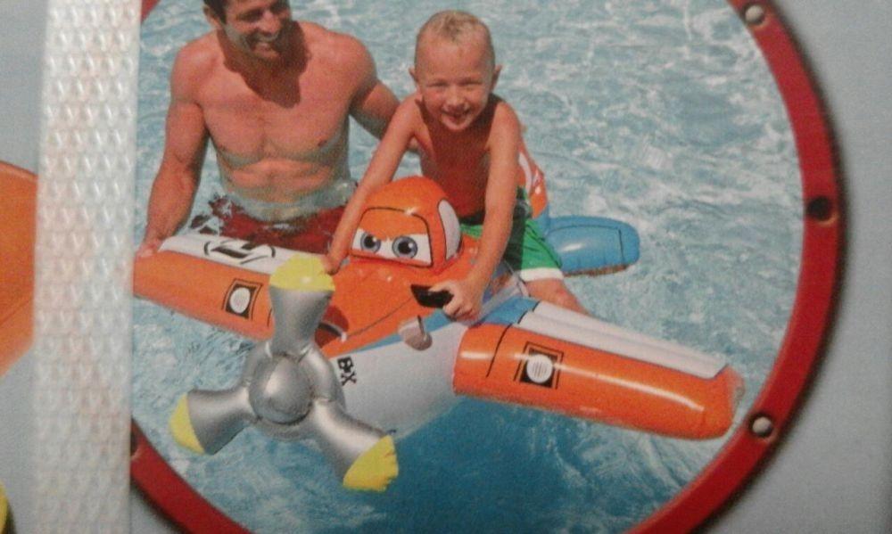 Saltea gonflabila copii, model Avion/ planes, cu manere, nou,119x119cm