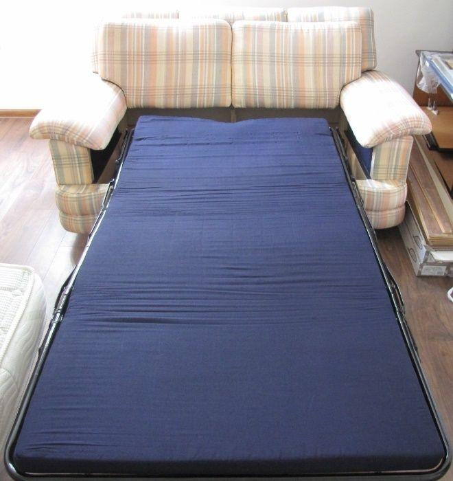 Разтегателен Диван 2-ка с механизъм за спане;Еднолицев матрак;