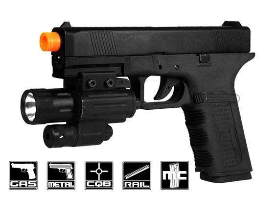 Pistol airsoft *MODIFICAT* PE ARC MP40 metal slide cu armare manuala