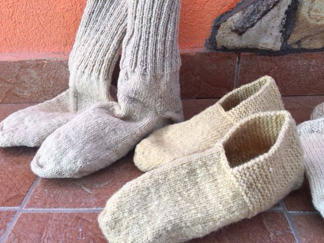 ciorapi lana naturala oaie