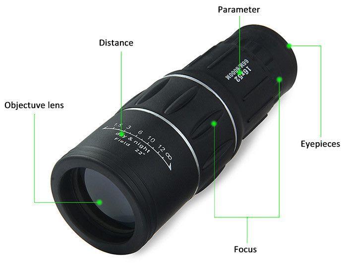 Monocular telescop 16x zoom sport vanatoare concert