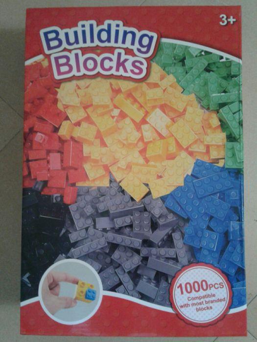 Set 1000 piese de construit tip lego, mici dimens., dif. forme& culori