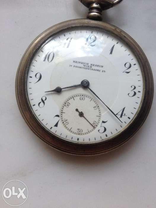 Ceas de buzunar Heinrich Hesaun Wien argint