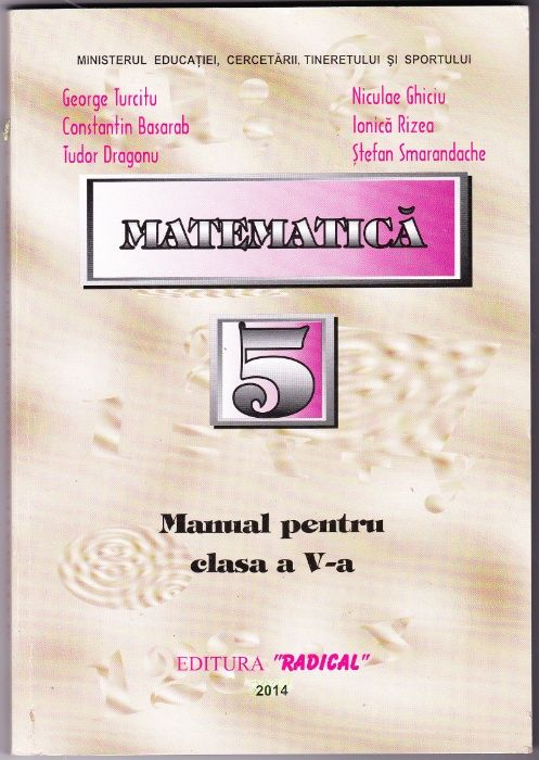 Matematica. Manual pentru clasa a V-a de George Turcitu s.a