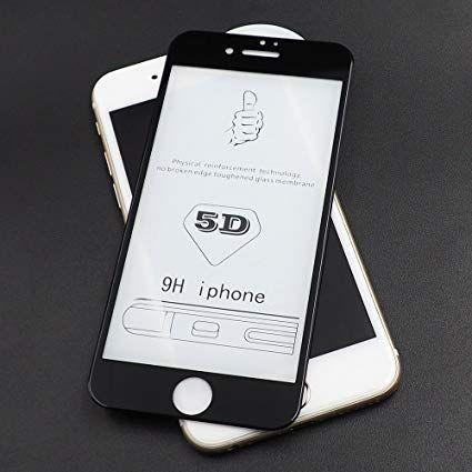 Folii pentru IPHONE, 5D NEGRU duritate 10H