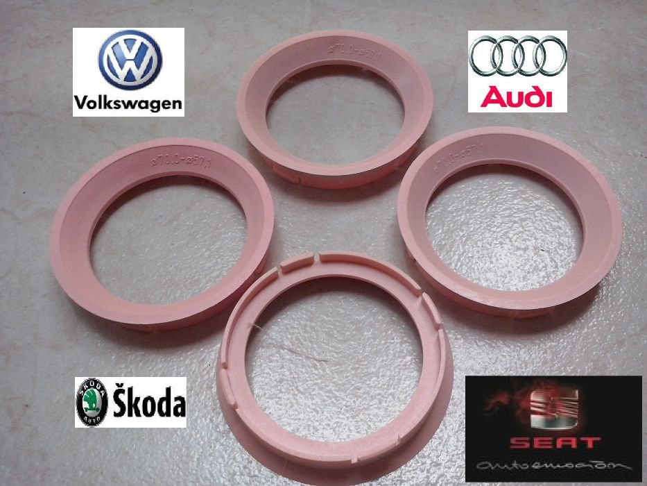 Inele de centrare ghidaj 70 x 57.1 Jante Rial VW Audi Seat Skoda